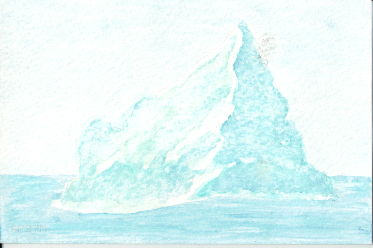 Watercolour iceberg