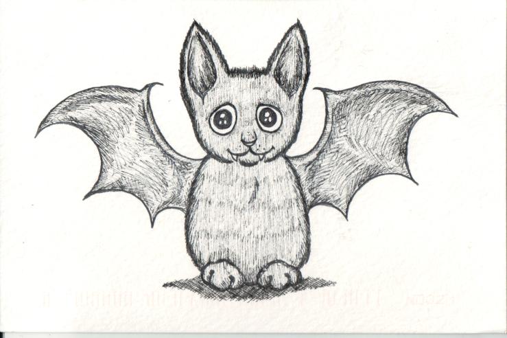 Kitten with bat wings, Halloween Costume